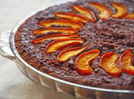 Apricot & chocolate tart