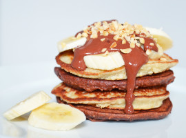 Banana & chocolate pancakes